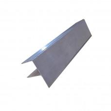 F-профиль для террасной доски ДПК, Алюминиевый