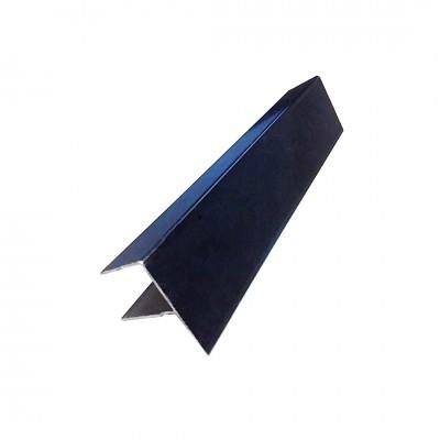 F-профиль для террасной доски ДПК, Черный