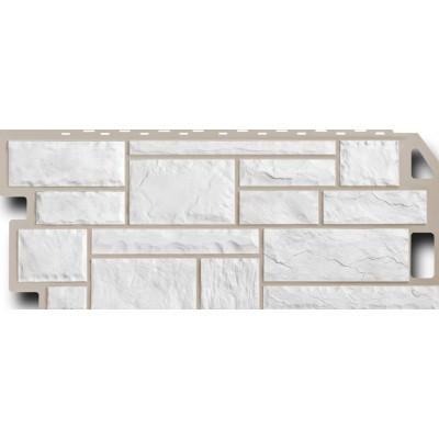 Фасадная панель FineBer Камень мелованный белый