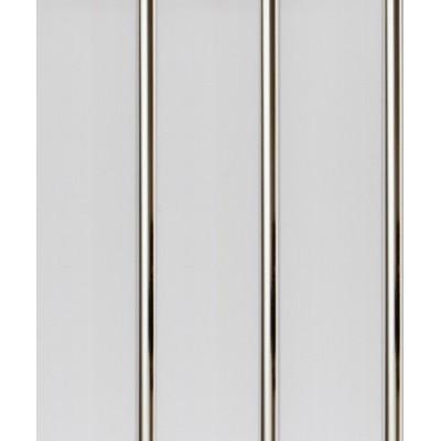 Панель ПВХ Акватон 25см 3-секционная Хром (609) - длина 2.5м