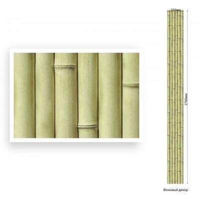 Панель ПВХ Век 25см Бамбук оливковый Мат - длина 2.7м