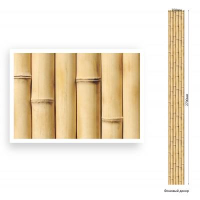 Панель ПВХ Век 25см Бамбук натуральный Мат - длина 2.7м
