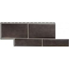 Фасадная панель ПВХ Альта-Профиль Камень Флорентийский Коричневый