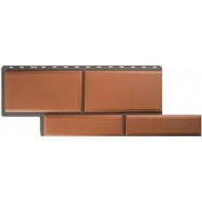 Фасадная панель ПВХ Альта-Профиль Камень Флорентийский Терракотовый