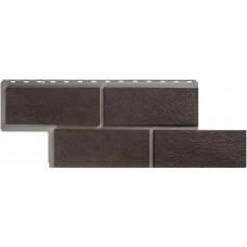 Фасадная панель ПВХ Альта-Профиль Камень Неаполитанский Коричневый