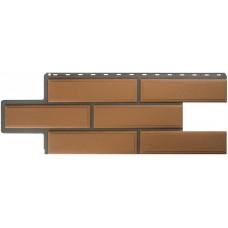 Фасадная панель ПВХ Альта-Профиль Камень Венецианский Персиковый