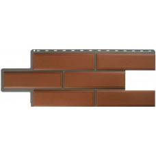 Фасадная панель ПВХ Альта-Профиль Камень Венецианский Терракотовый