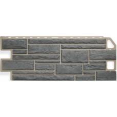 Фасадная панель ПВХ Альта-Профиль Камень Серый