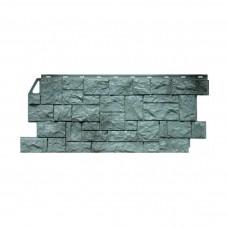 Фасадная панель ПВХ FineBer (Файнбир) Камень Дикий Серо-зеленый
