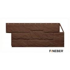 Фасадная панель ПВХ FineBer (Файнбир) Камень Крупный Коричневый