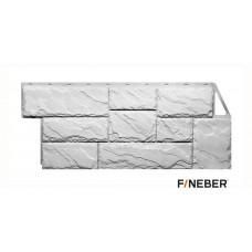 Фасадная панель ПВХ FineBer (Файнбир) Камень Крупный Мелованный Белый