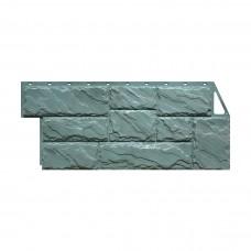 Фасадная панель ПВХ FineBer (Файнбир) Камень Крупный Серо-зеленый