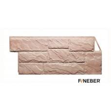 Фасадная панель ПВХ FineBer (Файнбир) Камень Крупный Терракотовый