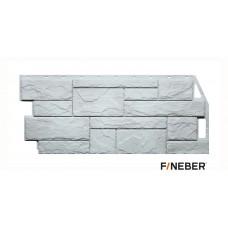 Фасадная панель ПВХ FineBer (Файнбир) Камень Природный Жемчужный