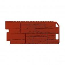 Фасадная панель ПВХ FineBer (Файнбир) Камень Природный Красно-коричневый