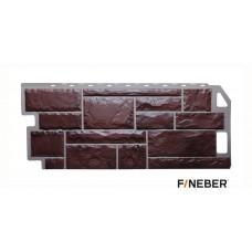 Фасадная панель ПВХ FineBer (Файнбир) Камень Коричневый