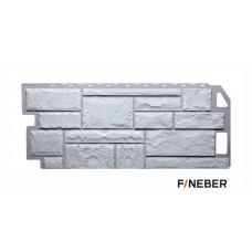 Фасадная панель ПВХ FineBer (Файнбир) Камень Мелованный Белый