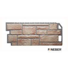 Фасадная панель ПВХ FineBer (Файнбир) Камень Терракотовый