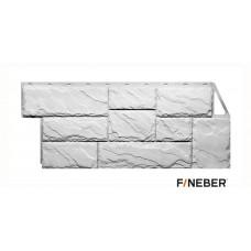 Фасадная панель ПВХ FineBer (Файнбир) Дачный Камень Крупный Белый