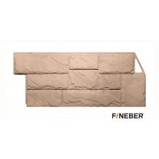 Фасадная панель ПВХ FineBer (Файнбир) Дачный Камень Крупный Бежевый