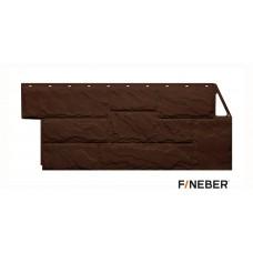 Фасадная панель ПВХ FineBer (Файнбир) Дачный Камень Крупный Коричневый