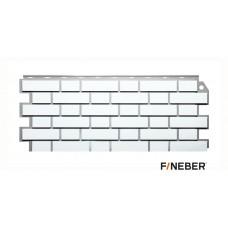 Фасадная панель ПВХ FineBer (Файнбир) Дачный Кирпич Клинкерный Белый
