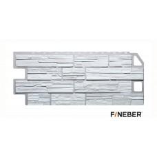 Фасадная панель ПВХ FineBer (Файнбир) Дачный Сланец Белый