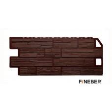 Фасадная панель ПВХ FineBer (Файнбир) Дачный Сланец Коричневый