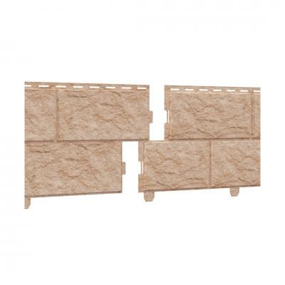 Фасадная панель ПВХ Ю-Пласт Стоун Хаус Камень Золотистый (двойной замок)