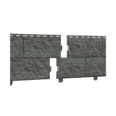 Фасадная панель ПВХ Ю-Пласт Стоун Хаус Камень Изумрудный (двойной замок)