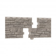 Фасадная панель ПВХ Ю-Пласт Стоун Хаус Сланец Светло-серый