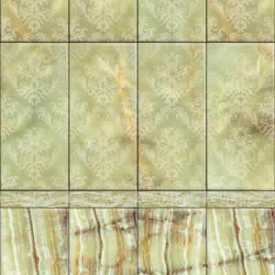 Панель ПВХ Век Барокко зелёный глянец - длина 2.7м