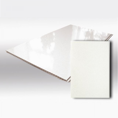 Панель ПВХ Пласт Декор 37.5см Лак белый - длина 3м