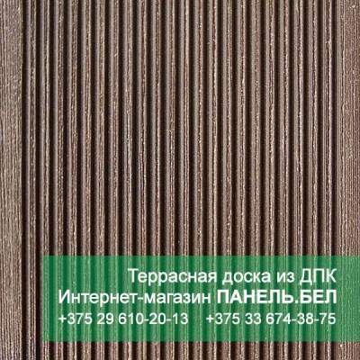 Террасная доска ДПК Терропласт под дерево, коричневый, м2