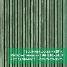 Террасная доска ДПК Терропласт под дерево, зелёный, м2