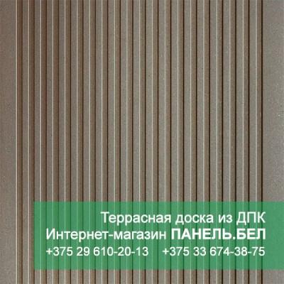 Террасная доска ДПК Терропласт, коричневый, м2