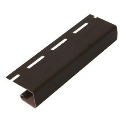 J - планка к сайдингу Grand Line (Гранд Лайн) тёмно-коричневый