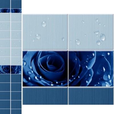 Панель ПВХ Кронапласт Unique 25см Капли росы синий - длина 2.7м