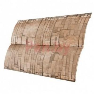 Сайдинг наружный металлический Grand Line Блок-хаус Sand Stone 2м