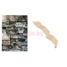 Сайдинг наружный металлический МеталлПрофиль Корабельная доска Белый камень 2м
