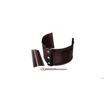 Хомут (кронштейн) водосточной трубы Grand Line Стандарт металлический, на кирпич, шоколадный
