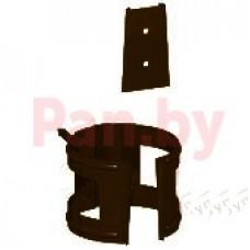 Хомут (кронштейн) водосточной трубы МеталлПрофиль Престиж D-100, Шоколад (на кирпич)