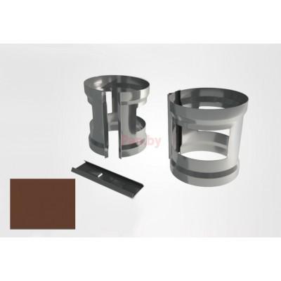 Хомут (кронштейн) водосточной трубы Raiko Premium D-90, Коричневый (на кирпич)
