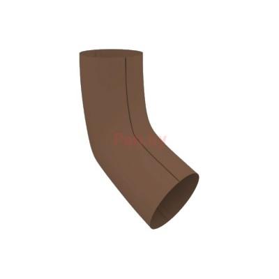Колено (отвод) водосточной трубы Альтер 120/100 ПЭ, D-100, Шоколад