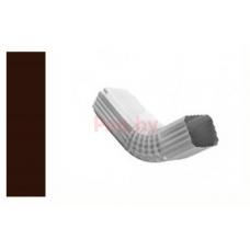 Колено (отвод) водосточной трубы Альтер 120/76 ПЭ мат., 76х120мм, Шоколад