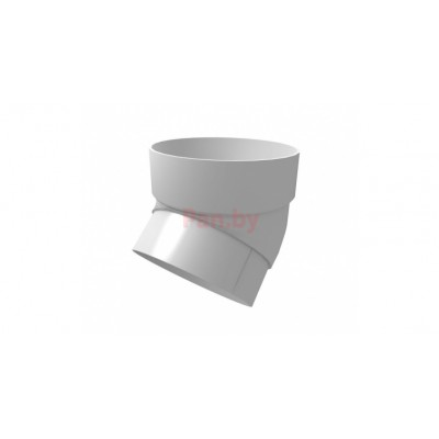 Колено (отвод) водосточной трубы Grand Line Стандарт Белый