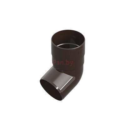 Колено (отвод) водосточной трубы Ines 67,5 град., D-80, Коричневый
