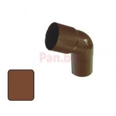 Колено (отвод) водосточной трубы Plastmo 125/90 60 град., D-90, Коричневый