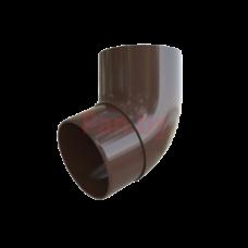 Колено (отвод) водосточной трубы Альта-Профиль Элит 67 град., D-95, Коричневый