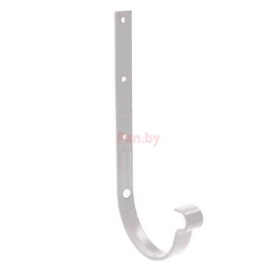 Кронштейн (держатель) водосточного желоба Galeco D-110,метал., длинный, Белый